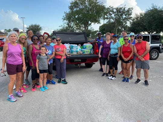 Members of the Port St. Lucie Crosstown Running Club recently collected water and other supplies for Bahamas relief. The new club meets at 6 p.m. Wednesdays at McChesney Park, 1585 S.W. Cashmere Blvd., Port St. Lucie. The public is welcome to join. For details, contact Crichton McCutcheon at hemac@bellsouth.net.