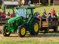 A tractor ride at Denver Downs