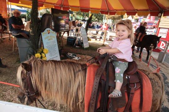The Big Fresno Fair features pony rides.