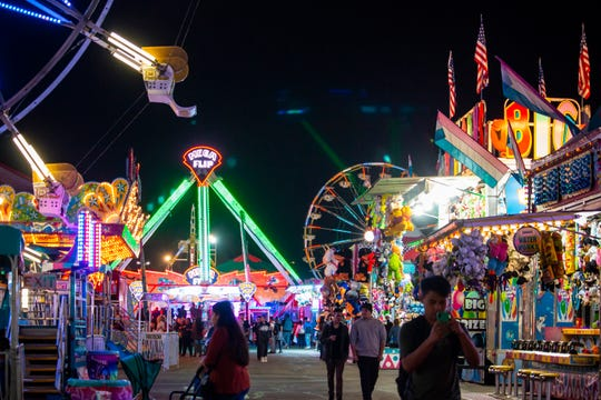 The Big Fresno Fair's carnival midway.