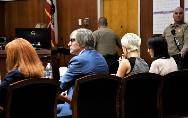Erika Sandoval (far right) is accused of killing her ex-husband Daniel Green.
