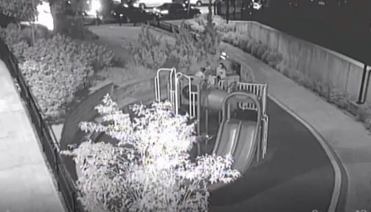 Yonkers police are investigating the shooting of a 12-year-old boy on Sept. 8, 2019. Surveillance video shows the scene on Highland Avenue.