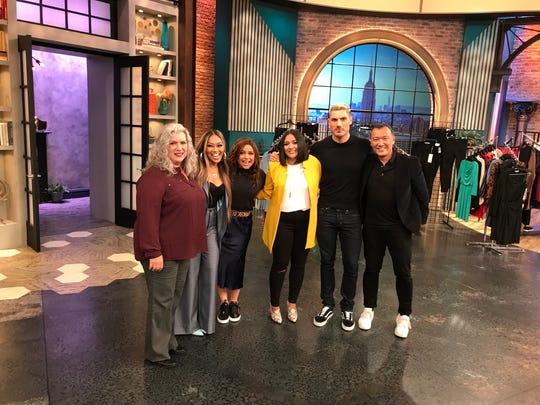 "From left: Mary Avellan, Mally Roncal, Rachael Ray, Imelda Avellan, Chris Appleton and Joe Zee on the set of the ""Rachael Ray Show."""