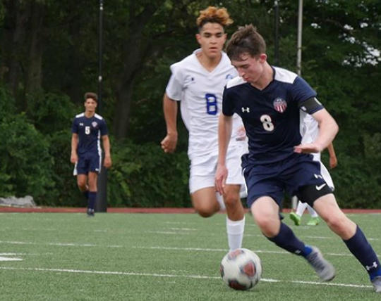 A pair of goals in an upset win over Byram Hills was the highlight of a productive week for Eastchester junior Michael Harrigan.