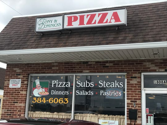 Tony & Dominick's Pizza is located at 1808 Newport Gap Pike near Prices Corner.