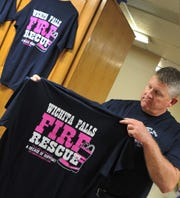 WFFD firefighters are selling their annual WFFD Care t-shirts to raise money to donate to Susan G Komen and the American Cancer Society.