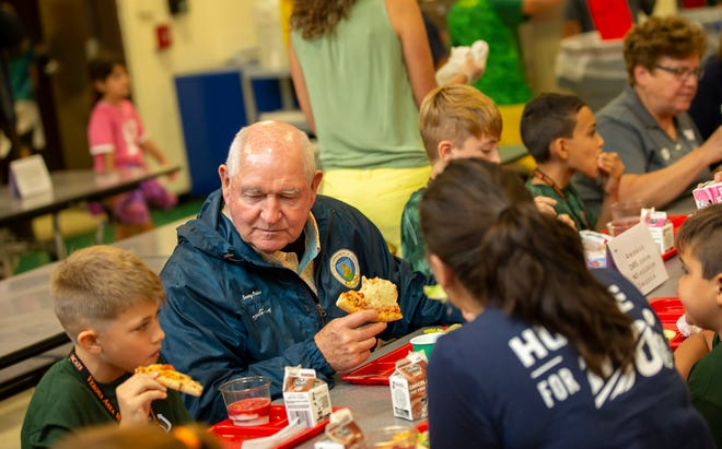 "U.S. Secretary of Agriculture Sonny Perdue who visited Sugar Creek Elementary on Oct. 1, 2019,  says he was surprised at opposition to move USDA headquarters to Kansas City, Mo., - a decision which he says he has ""absolutely zero regrets"" about."