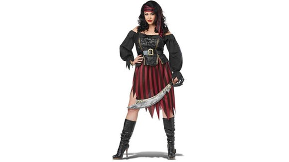 Avoid the plank with this super-accurate pirate costume.