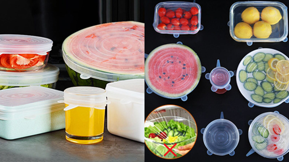 These stretch lids can seal everything airtight.