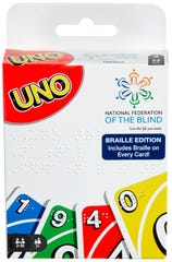 Uno launched a variation in Braille.