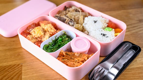 The Monbento lunch box is the only thing i bring to work for lunch.