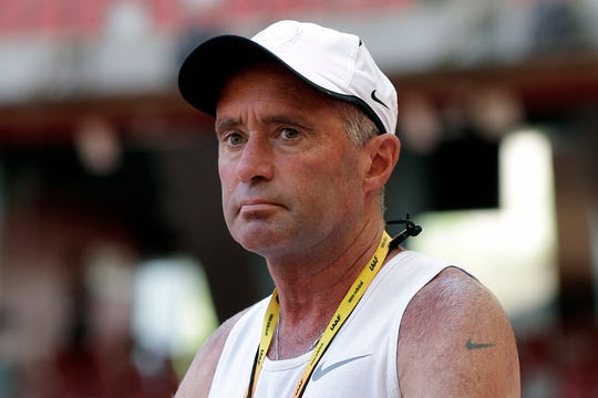 Alberto Salazar, shown in 2015, received a four-year suspension from track and field on Monday.