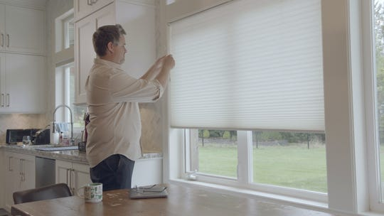 Gadsby recommends closing blinds and shades to prevent heat from escaping through the windows.