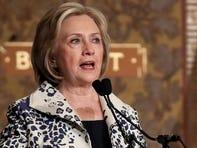 Former Secretary of State Hillary Clinton speaks at Georgetown University Sept. 27, 2019 in Washington.
