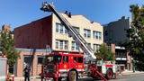 Authorities were responding today to a fire on Bangs Avenue in Asbury Park.
