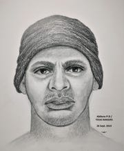 Texas Rangers created a sketch of the suspect in the Sept 24, 2019, robbery at First State Bank in Abilene.