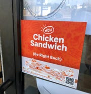 The new Popeyes on Airport Road will open soon, but it won't have the now-famous chicken sandwich until late October or early November.