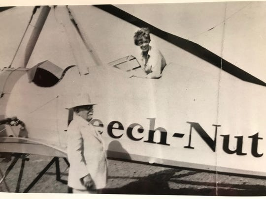 Amelia Earhart (right) was a guest of Dr. John Harvey Kellogg at the Battle Creek Sanitarium. The world-renown health spa offered a strictly vegetarian diet.