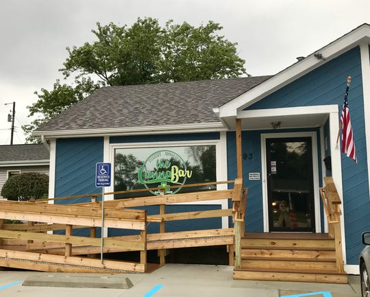 The Cannabar is a medical marijuana dispensary at 293 Columbia Ave. in Battle Creek. Owners Tom and Melissa Tatar plan to have the business open soon.