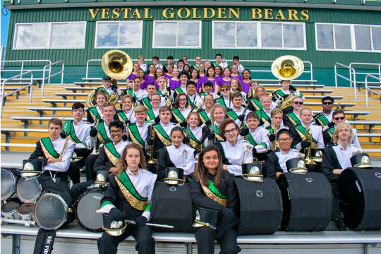 Vestal High School's Marching Band will be joined by area school districts at Dick Hoover Stadium on Saturday for the Golden Circle of Bands Competition.