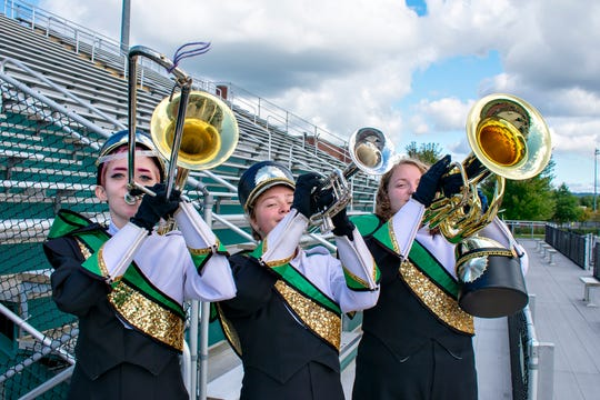 Vestal High School's Marching Band (pictured) will be joined by several area Marching Bands during the Golden Circle of Bands Competition at Dick Hoover Stadium on Saturday.