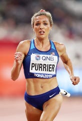 Elinor Purrier of the United States competes in the Women's 5000 metres heats during day six of 17th IAAF World Athletics Championships Doha 2019 at Khalifa International Stadium on October 02, 2019 in Doha, Qatar.