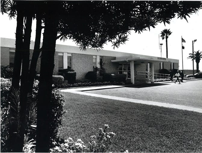 Corpus Christi Osteopathic Hospital on Tarlton Street in Corpus Christi in July 1990. The name had recently been changed to Doctor's Hospital. The facility on Tarlton was closed in late 1990.