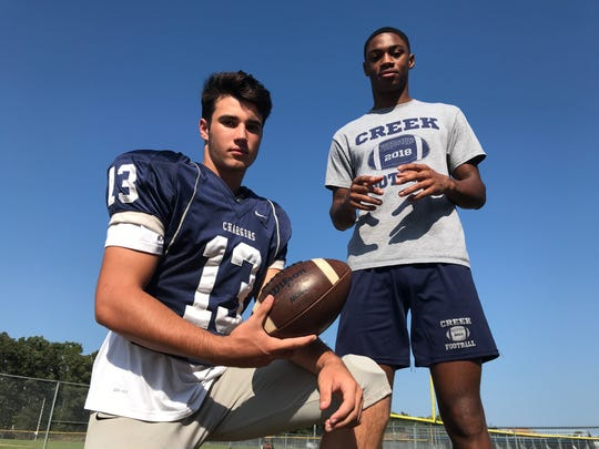 Timber Creek sophomore quarterback Donovan Leary (left) and senior receiver Tarheeb Still have excelled during the Chargers' 3-1 start to the season.