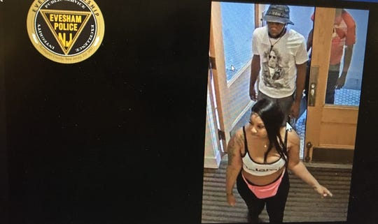 These suspects are being sought by Evesham police for allegedly stealing 400 pairs of undergarments from Victoria's Secret in Marlton.