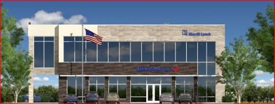 A financial building with the Bank of America and Merrill Lynch as tenants is planned for Kenwood.