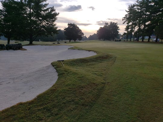 Swan Lake Golf Course bunkers have been rebuilt.