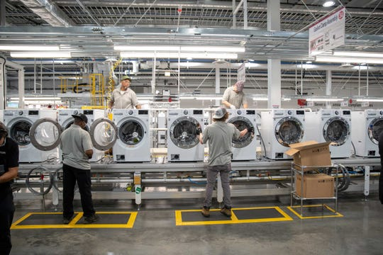 LG washing machines manufactured in Clarksville.