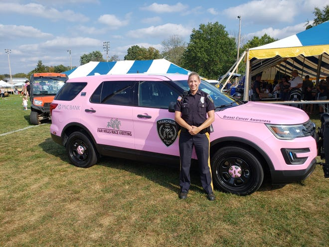 Three Somerset County police vehicles have been wrapped in pink in support of October being Breast Cancer Awareness Month,Somerset County Prosecutor Michael H. Robertson and Somerset County Prosecutor's Office Chief of County Detectives John W. Fodor announced.