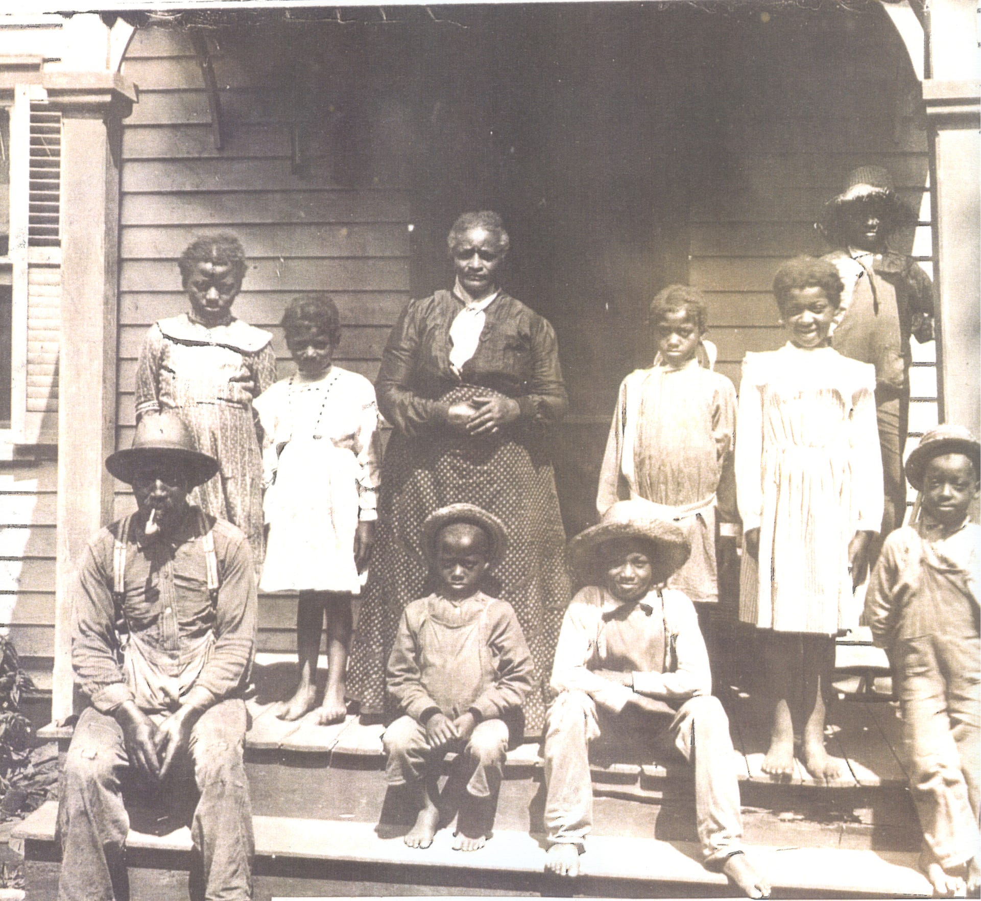 "Author Brian Armstrong took a look at the 1894 murder of a mother and child and the ensuing expulsion of Franklin Park's African-American residents in his latest book, ""The Franklin Park Tragedy,"" published earlier this year by Arcadia Publishing. Now a model of diversity, Franklin Park was the home of Aaron Staats (pictured with his second wife and grandchildren), a prominent landowner and farmer, in front of his house on Sand Hill Road around 1900."
