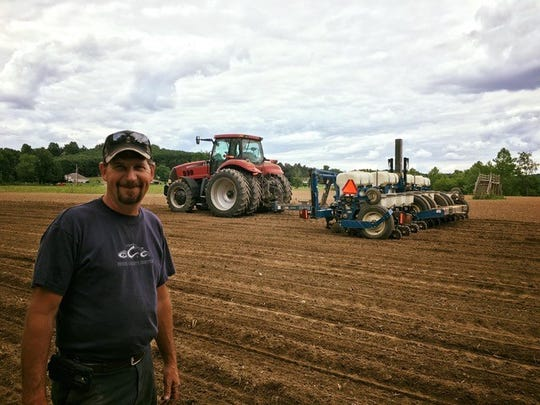 Brian Mason of Pew Farms handles the planting of corn each spring for McPeek's Mighty Maze. He then harvests the corn after the maze closes for the season.