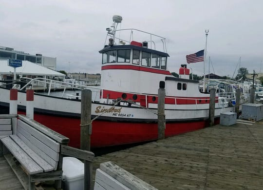 Brian Blancke used to pilot this 62-foot tugboat, renamed the Sindbad in 1982 when Sindbad's restaurant acquired it.