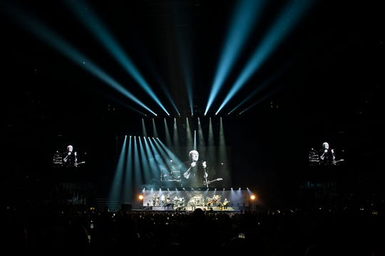 Phil Collins performs at Little Caesars Arena in Detroit, Tuesday, Oct. 1, 2019, part of his Still Not Dead Yet Tour.