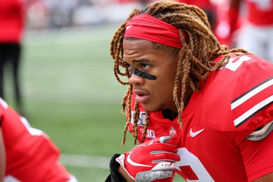 Ohio State defensive end Chase Young before the game against Florida Atlantic at Ohio Stadium, Aug. 31, 2019.