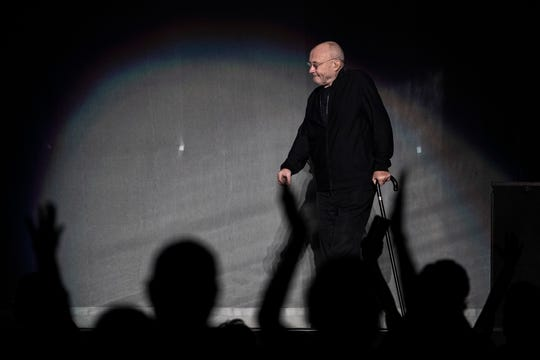 Phil Collins at Little Caesars Arena in Detroit, Tuesday, Oct. 1, 2019, part of his Still Not Dead Yet Tour.