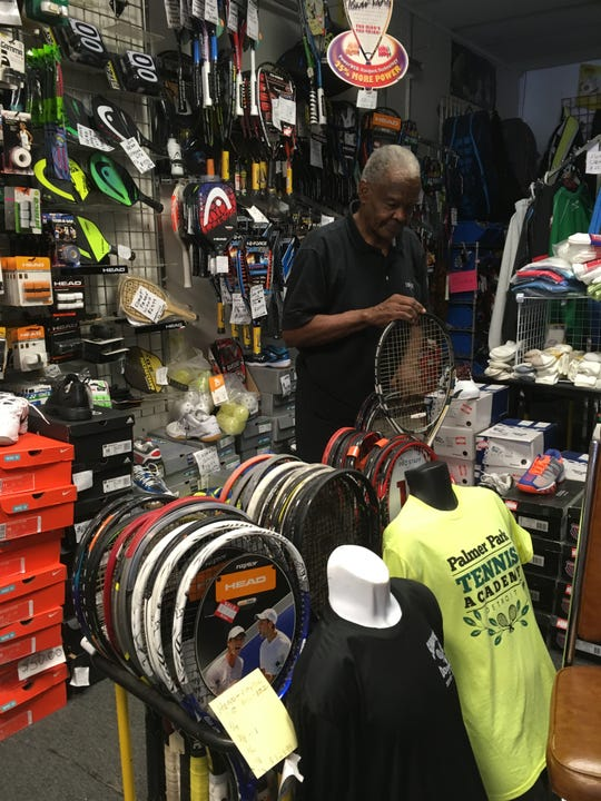 Michael Banks has owned Professional Racquet Services on the Avenue of Fashion for 35 years. He worries that some of the nearby businesses along Livernois won't survive a lengthy road improvement project.