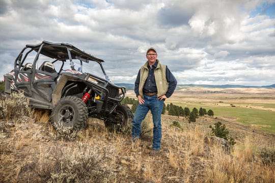 In this Sept. 21, 2017 photo provided by Silvies Valley Ranch, Colby Marshall, vice president of Silvies Valley Ranch poses for a picture in Burns, Ore. Silvies Valley Ranch owns five bulls that were found dead with sex organs and tongues removed.