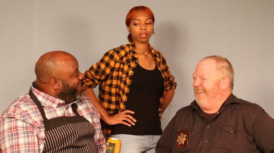 """Channel Cat,"" opening Nov. 7 at Detroit Repertory Theatre, stars Lynch Travis, Kayla Von and Ryan Carlson."