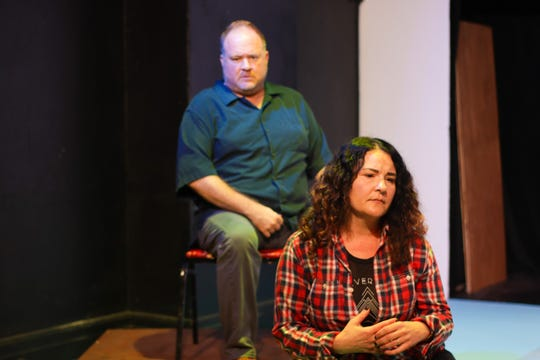 "Joel Mitchell (left) and Kelly Komlen in ""Tiny Beautiful Things"" at The Ringwald in Ferndale."