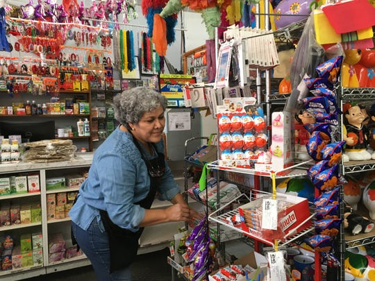 Raquel Lozano, owner of El Popo Market, says the Bagley Streetscape project has trimmed her business by 30 to 40% — but her regulars are still stopping in.