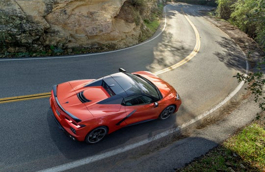 The mid-engine 2020 Chevrolet Corvette Stingray Convertible will be the first Corvette to offer a completely retractable hardtop that will stow behind the passenger compartment.
