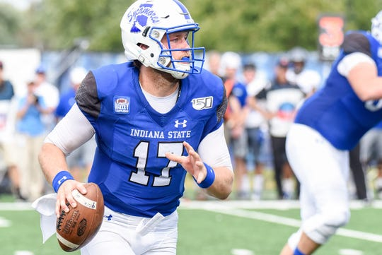 Kurtis Wilderman is on the move in leading Indiana State to a 16-6 victory over Eastern Illinois. He will make his first collegiate start Saturday at South Dakota.