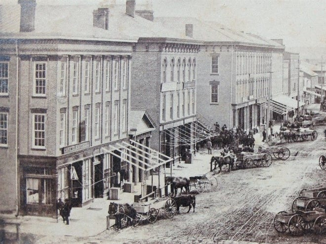 This 1860s photo shows Fremont's Front Street.