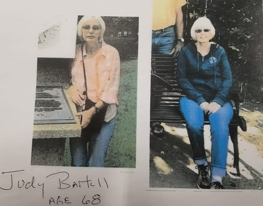 Search and rescue team is looking for Judy Bartell, 68, who went missing Tuesday evening.