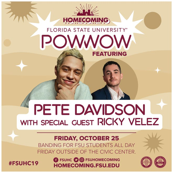 Pete Davidson and Ricky Velez to perform for FSU students for Homecoming on Oct. 25.
