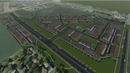 Pictured is a rendering of the proposed Northfield subdivision in northeast Fort Collins.